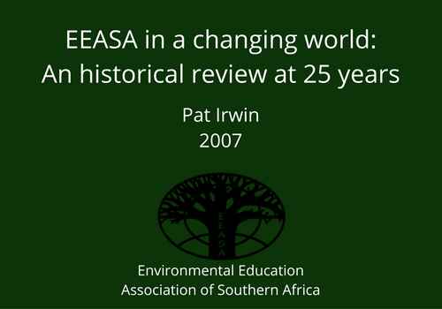 EEASA in a changing world-An historical review at 25 years